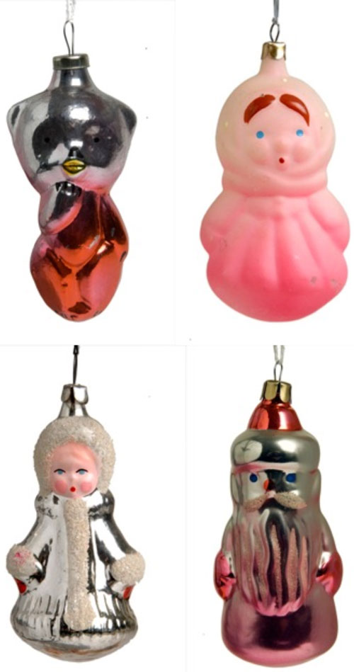 Shikasuki Vintage 1940s to 1960s Christmas Decoration Charactors from Russia and Ukraine